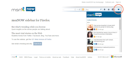 msnNOW per Firefox
