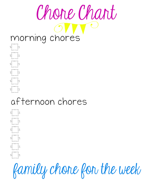 blank chore chart at GingerSnapCrafts.com