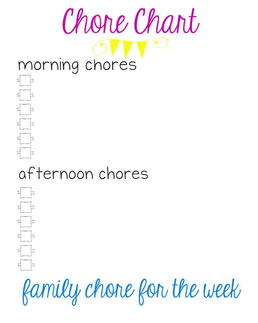 blank chore chart at GingerSnapCrafts.com