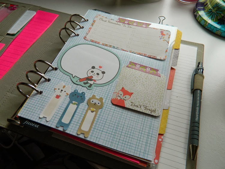 Custom Filofax Flyleaf cute sticky notes post it notes page markers Art Box