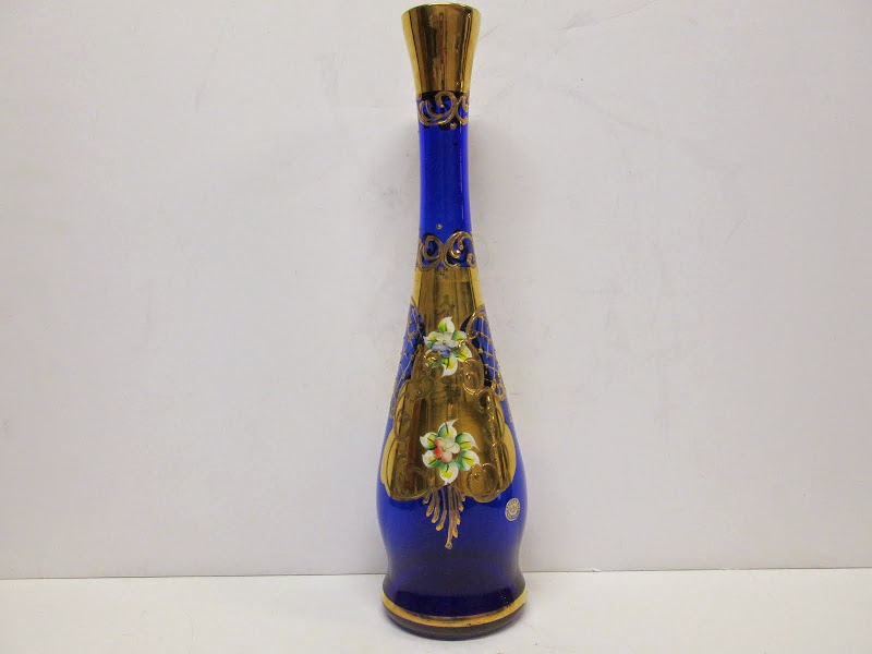 Murano Floral Decorative Bottle