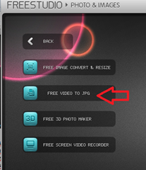 เมนูการแปลงไฟล์วีดีโอเป็น jpg