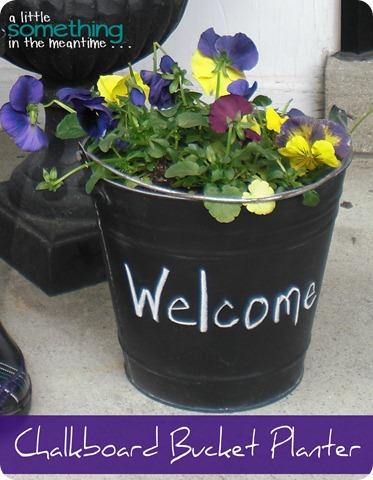 Chalkboard Bucket Planter