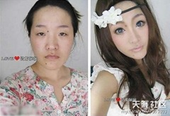 chinese girls makeup before and after  (6)