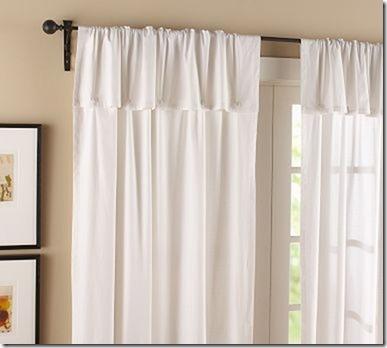 cotton button drapes