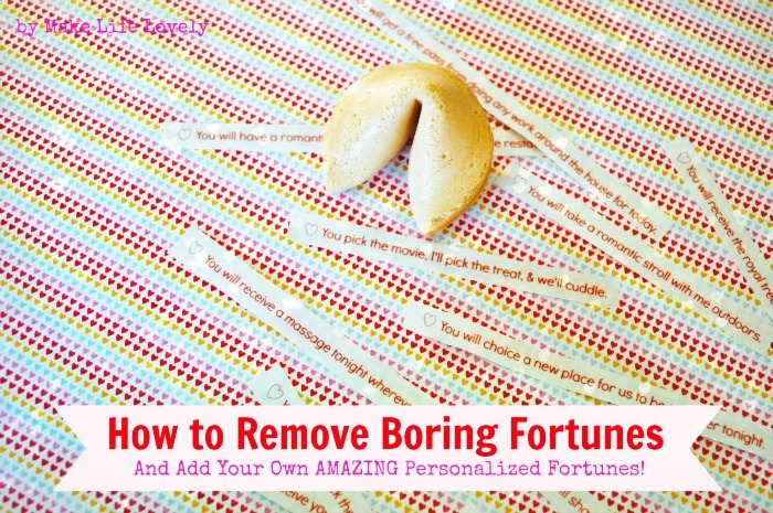 How to Add Your Own Fortune Cookie Message Tutorial by Make Life Lovely