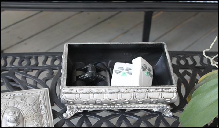 screened porch remote storage