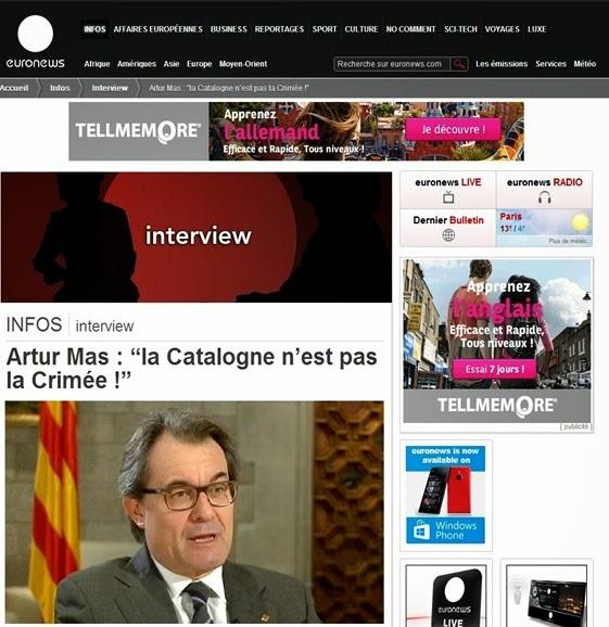 Artur Mas sus EuroNews