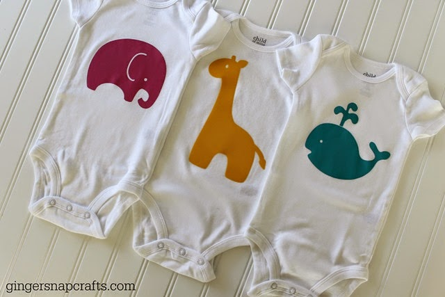 cute and easy baby gift ideas using a Silhouette #spon