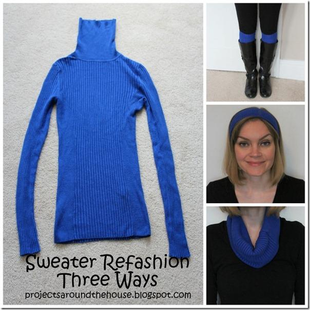 Sweater refashion three ways