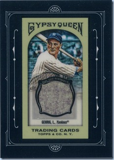2011 Gypsy Queen Gehrig Jersey