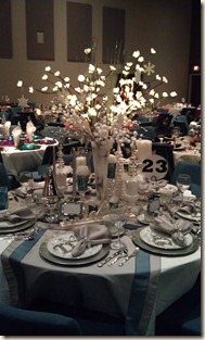 Silver and White Tablescape 12-15-11
