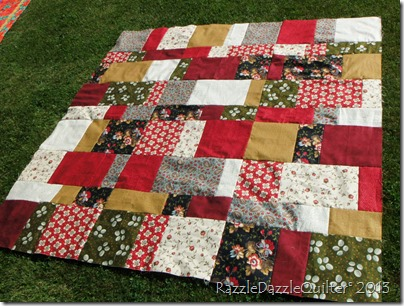 Take 9 Fat quarters quilt