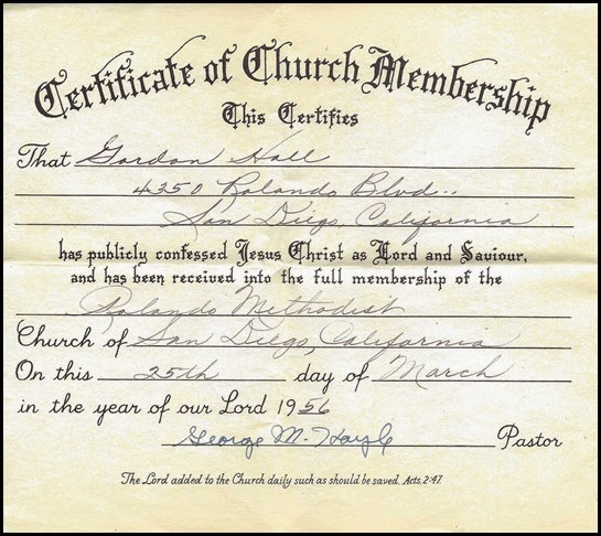 HALL_Gordon_cert of church membership_Rolando methodist_25 Mar