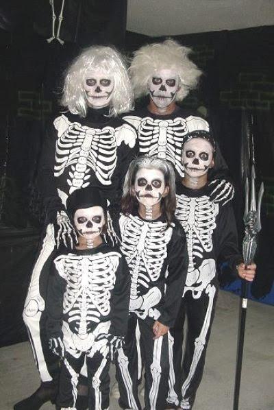 disfraz de esquelto para grupos