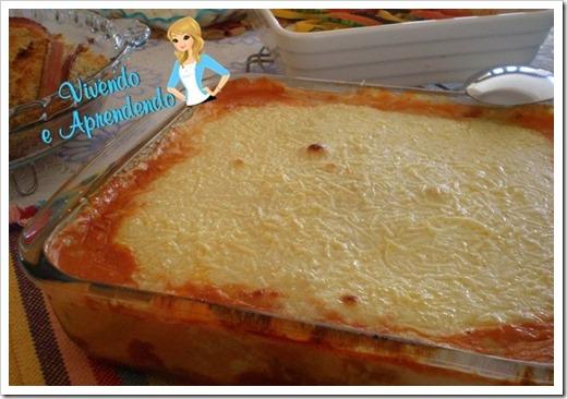 lasanha ao molho 4 queijos