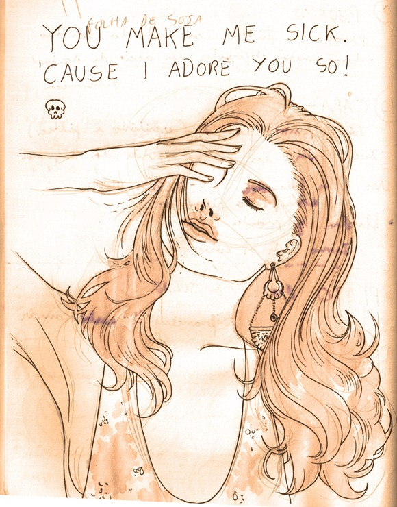 sketch do dia - adore you