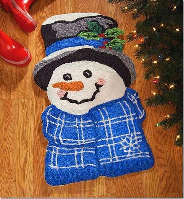 手工編織雪人地毯_1