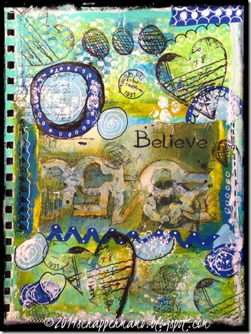 believe mixed media art journal