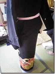 留袖の着付け練習 (1)