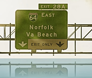VA Beach Exit Sign