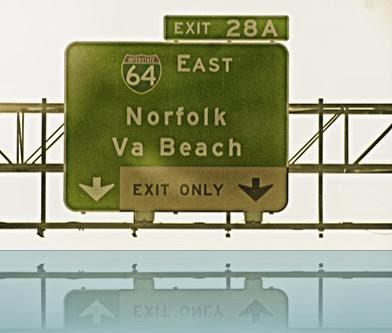 VA Beach Exit Sign