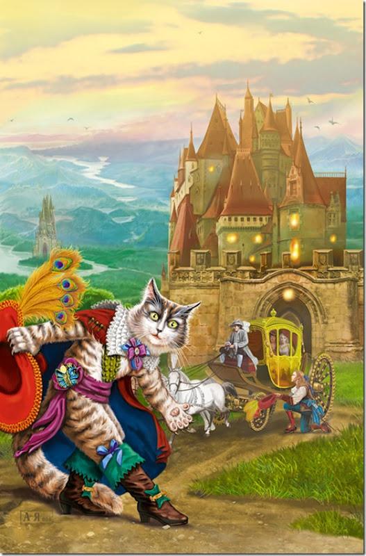 El Gato con Botas,El gato maestro,Cagliuso, Charles Perrault,Master Cat, The Booted Cat,Le Maître Chat, ou Le Chat Botté (158)
