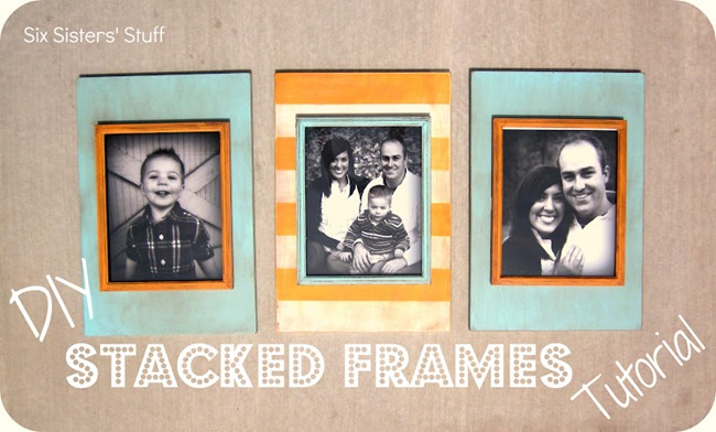 DIY Stacked Picture Frames Tutorial
