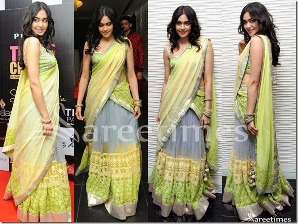 Adah_Sharma_Grey_Lemon_Green_Half_Saree(1)