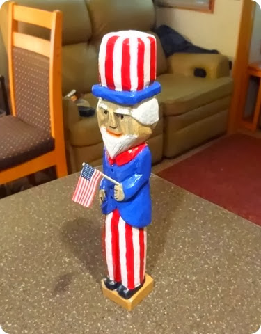 uncle sam carving