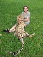 Sarah and cheetah - St Lucia - Elephant Coast, South Africa