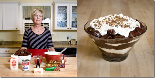 Melanie Hill, 50 years old, American Fork, Utah, USA. Chocolate Toffee Trifle