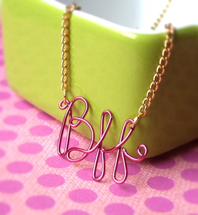 diy script necklace