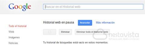 Buscador de historial web