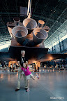 Liliana & Douglas Hopkins under DC shuttle propulsion. Photograph (c)2012 Chris Marquardt, our personal family photographer extraordinaire!
