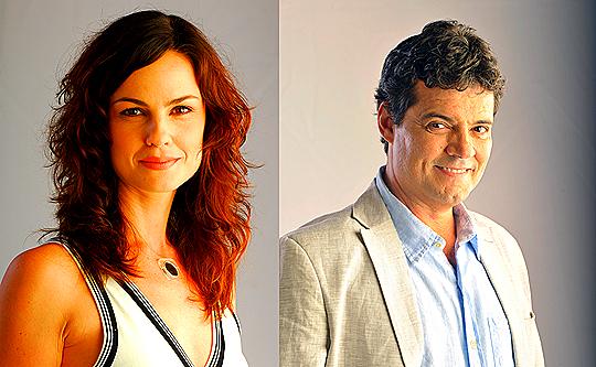 Carolina Kasting e Felipe Camargo - Fotos: João Miguel Junior/TV Globo