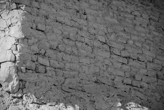 Turfan - Ruines de Jiaohe détail pierre