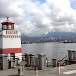 little lighthouse in Stanley Park, Vancouver in Vancouver, British Columbia, Canada