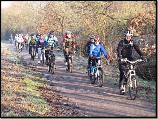 Steve Brok leads the MMB squad along the Middlewood Way