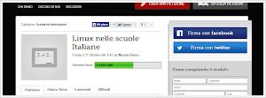 la petizione per portare Linux nelle scuole Italiane