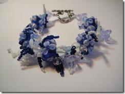 Sky Blue Fringe Bracelet