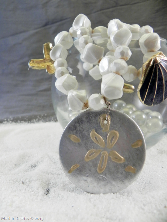 painted sand dollar charm