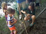 Catching fish at the Hidden Pond Nature Center. (June)