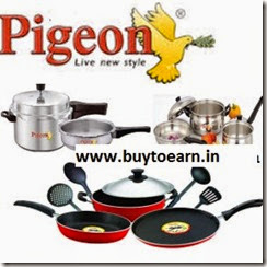 Amazon: Pigeon Cookware, Kitchen Tools and Dinner Sets minimum 50% off from Rs249.