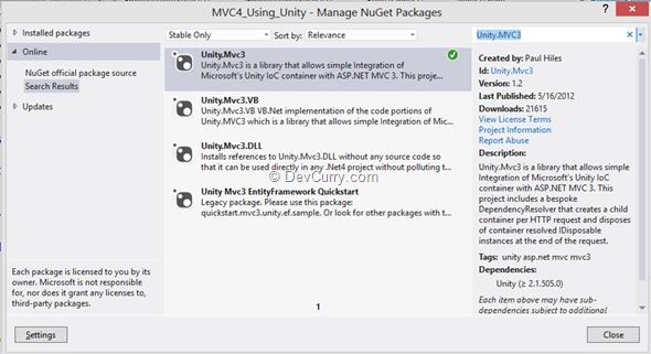 unity-mvc-package