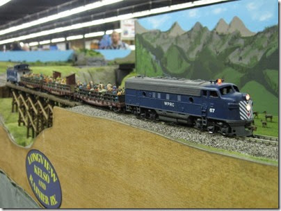 IMG_5621 Waterville Plateau F7A #67 on the LK&R HO-Scale Layout at the WGH Show in Portland, OR on February 18, 2007