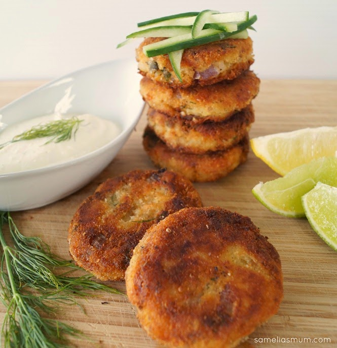 Fish Cakes with Lemon Cream
