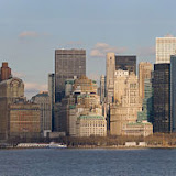 A panorama of Lower Manhattan as viewed from the Staten Island Ferry