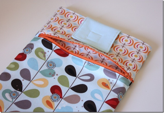 iPad case interior pocket
