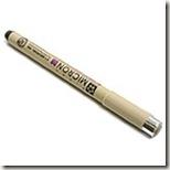 micron black pen 001